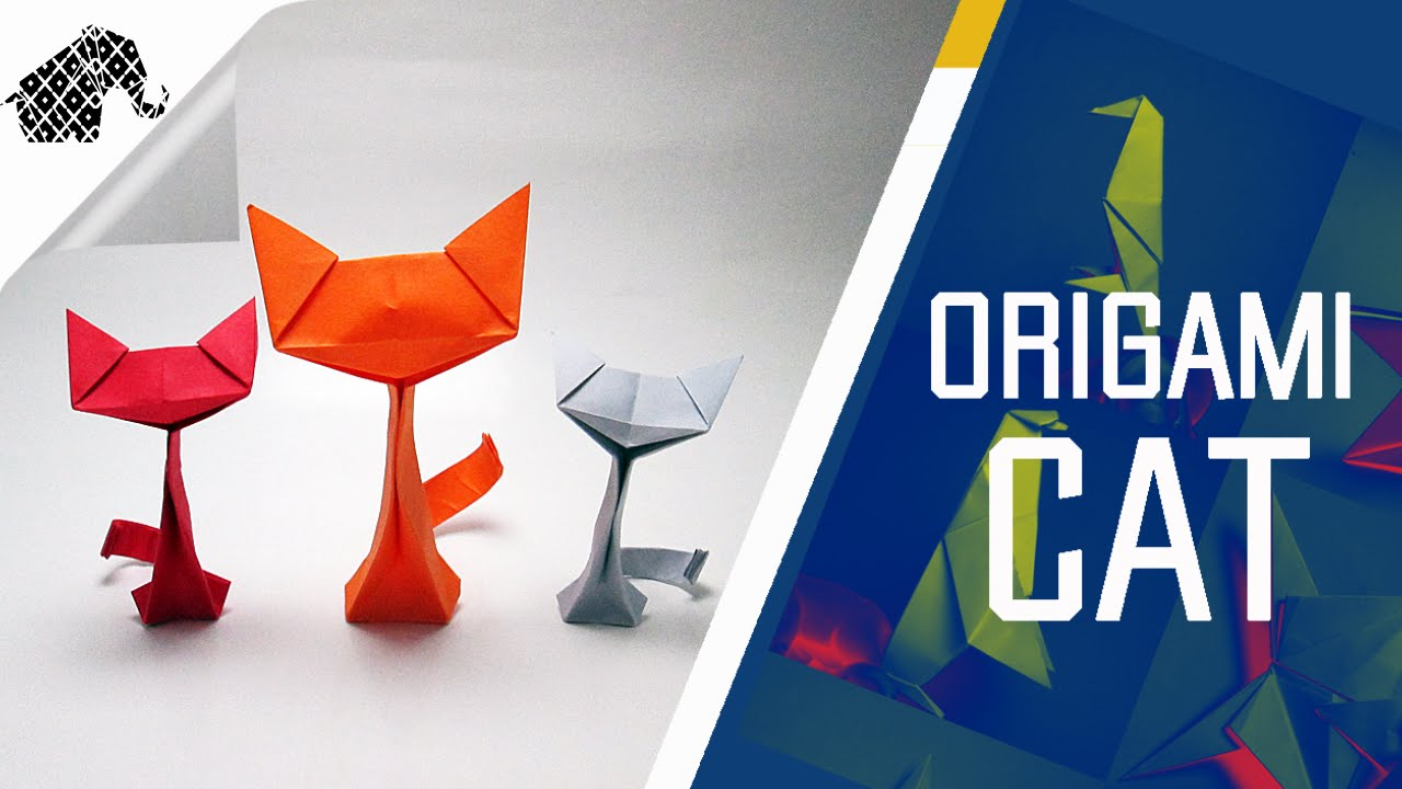 Origami - How To Make An Origami Cat - YouTube - photo#6