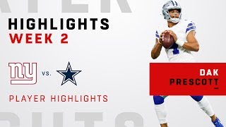 Dak Prescott Helps Get the Win Over Giants!