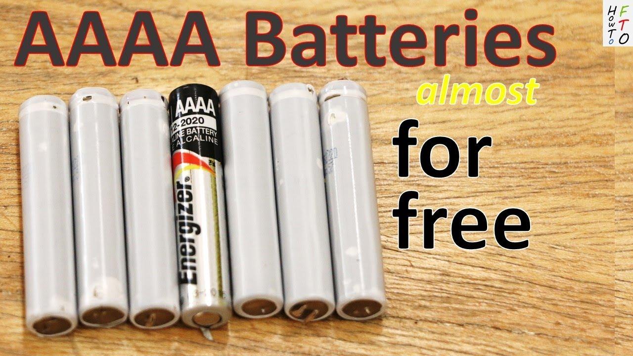 How to get AAAA batteries almo...