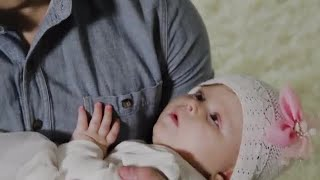 Sleeping Baby Girl Stock Video