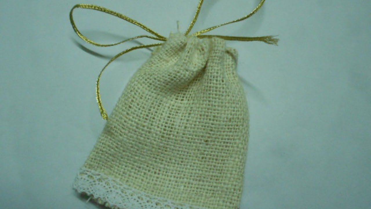 Make A Cute Burlap Favor Bag Diy Crafts Guidecentral