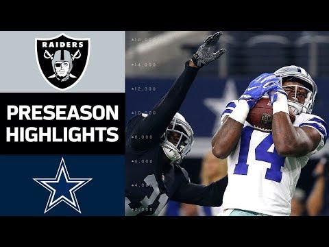 Raiders vs. Cowboys   NFL Preseason Week 3 Game Highlights