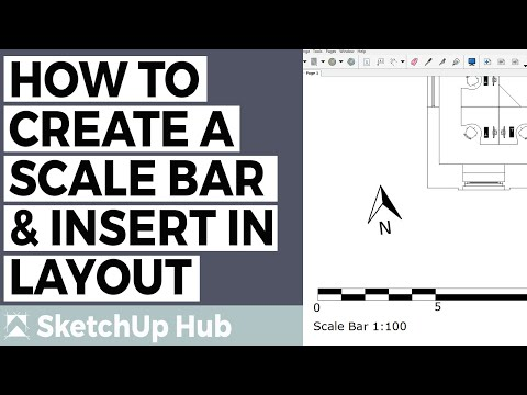 How To Create a Scale Bar in SketchUp and insert in LayOut