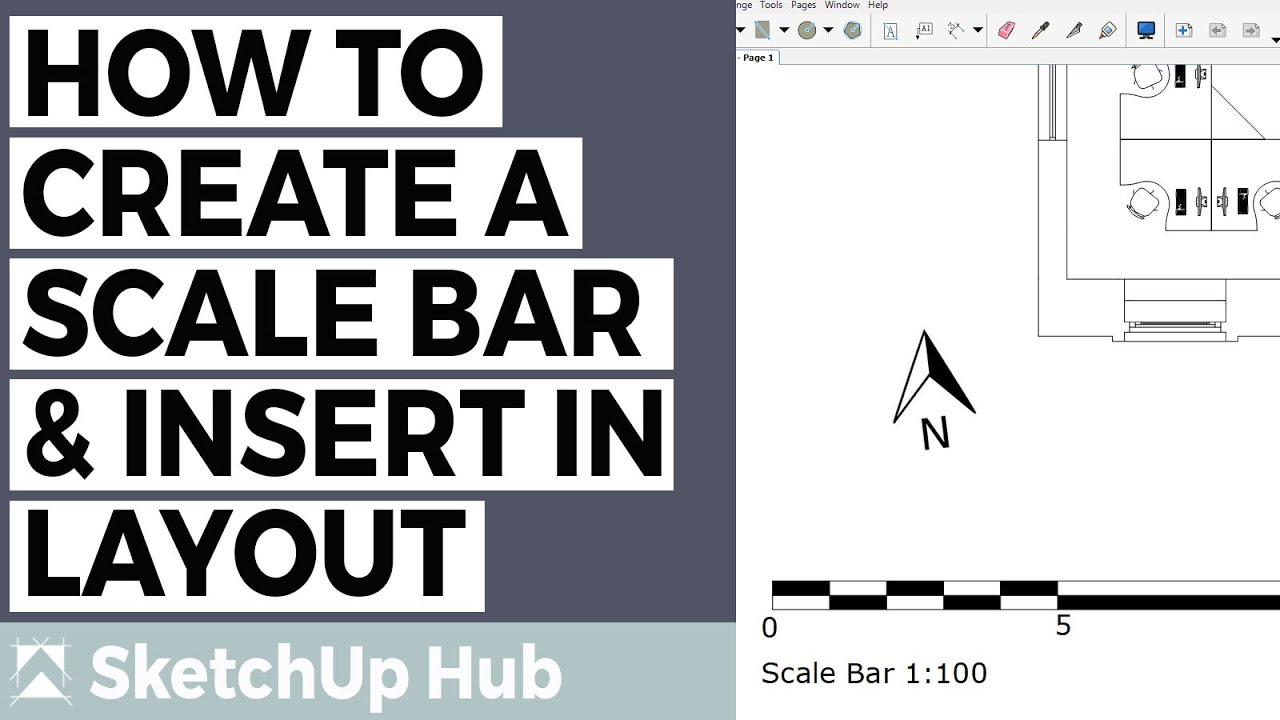 How To Create a Scale Bar and insert in LayOut - SketchUp for Interior  Design