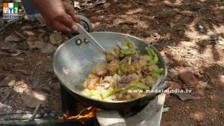 FARM HOUSE MUTTON RECIPE ANDHRA STYLE | HEALTHY STREET FOOD | STREET FOODS IN INDIA