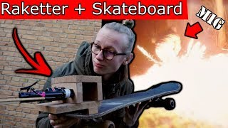 RAKETTER + SKATEBOARD = FARLIG TRANSPORT! / Mærkelige Opfindelser (fyrværkeri)