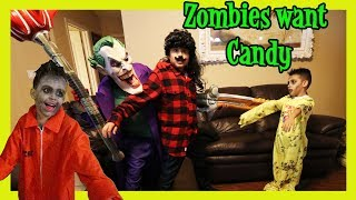 ZOMBIES WANT CANDY | DEION