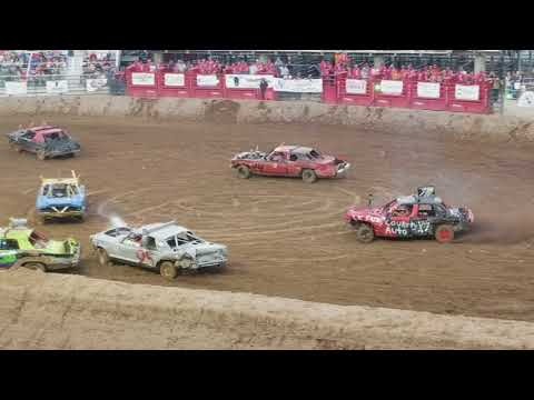 2017 Juab county fair demolition derby nephi Utah heat 2
