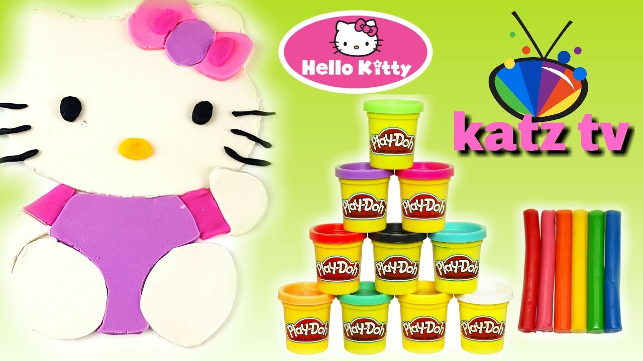 Kinder Videos Deutsch Play Doh Knete Hello Kitty Malen Mit