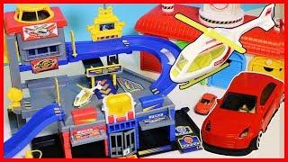 超級工程車軌道玩具,汽車消防車警車直升飛機大集合