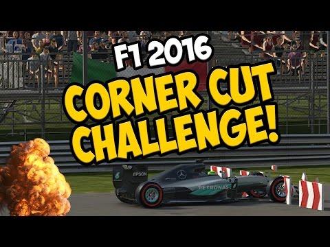 F1 2016: WORLD RECORD LAP TIMES - CORNER CUT CHALLENGE