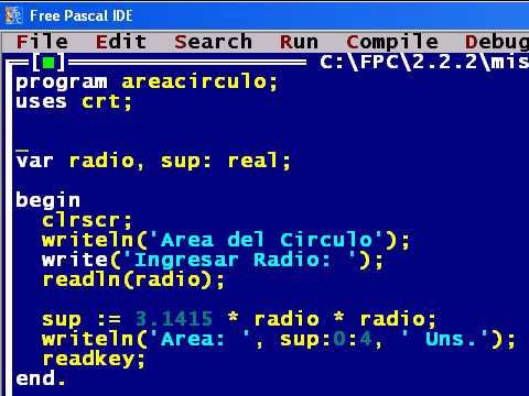 ejemplo pascal: