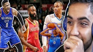RUSSELL WESTBROOK 49 POINTS 8 THREES VS JAMES JARDEN, STOP THE HATE AND RESPECT GREATNESS REACTION!