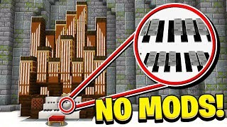 How to Make a WORKING PIANO in Minecraft! (NO MODS!)