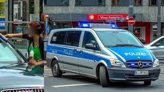 [POLIZEI FRANKFURT gegen illegale FENSTERPUTZER] - VERFOLGUNG & FLUCHT | Platz der Republik