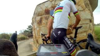 Riding With Dual World Champion Peter Sagan and Wife Katarina  **RARE FOOTAGE** | TDU 2017