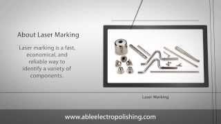 Metal Laser Marking Services | Part Engraving, Etching & Finishing | Able Electropolishing