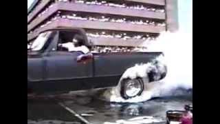 Burnout Contest Pigeon Forge TN. Les Elliot at the wheel.