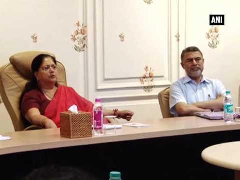 Vasundhara Raje reviews Ayurveda therapy department in Jaipur