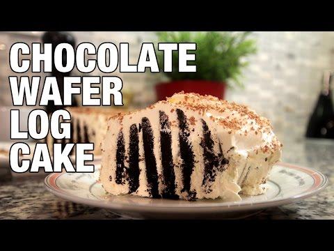 OREO COOKIE LOG CAKE (Chocolate Wafer Cake)