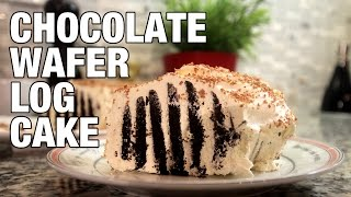Chocolate Wafer Oreo Log Cake | The Hungry Bachelor