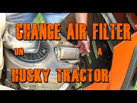Change the Air Filter on a Husqvarna YTH22V46 Yard Tractor