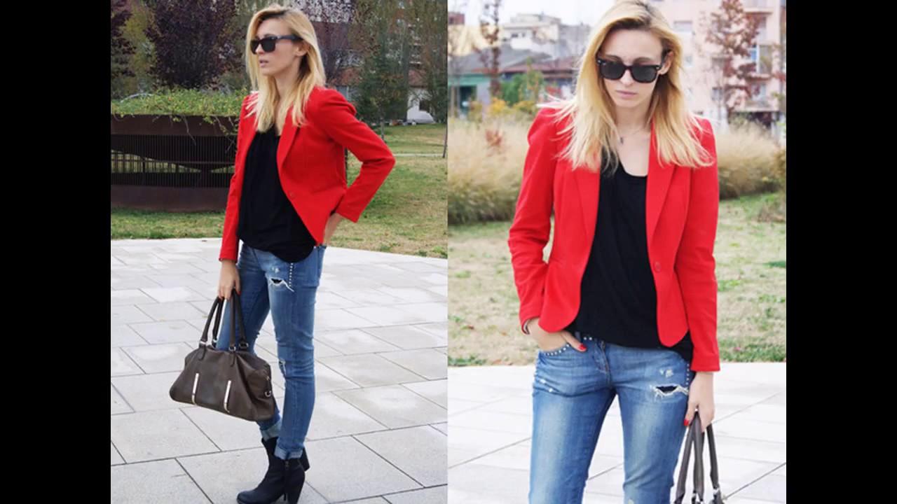 Blazer Blazer Outfits Outfits Outfits Con Rojo Rojo Youtube Blazer Con Youtube Youtube Rojo Outfits Con wSqnUCI