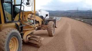 VOLVO GRADER WORK ON ROAD CONSTRUCTION