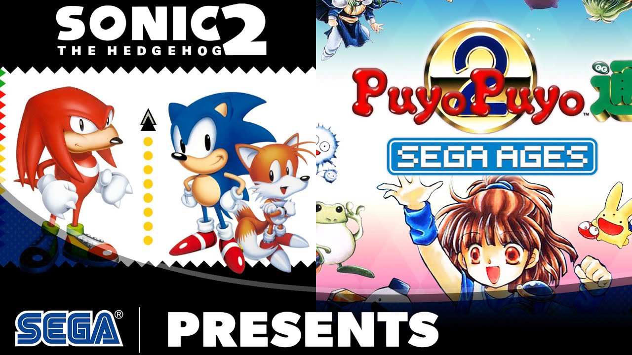 Sega Ages Sonic The Hedgehog 2 Puyo Puyo 2 Launch Trailer Youtube