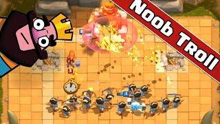 Clash Royale - Trolling Noobs - PRINCESS ONLY CHALLENGE - Troll in Bone Pit Arena 2
