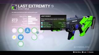 Destiny last extremity scout rifle review