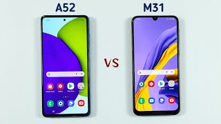 Samsung A52 Vs Samsung M31 Speed Test & Camera Comparison