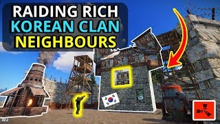 Gambar cover Raiding The RICHEST KOREAN CLAN Neighbours For A LOOT JACKPOT!! - RUST Survival