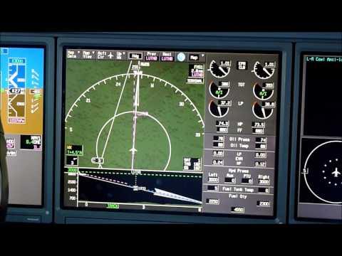 Gulfstream 550 cockpit view landing at EGGW Luton