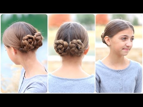 prim's mockingjay braided-bun updo