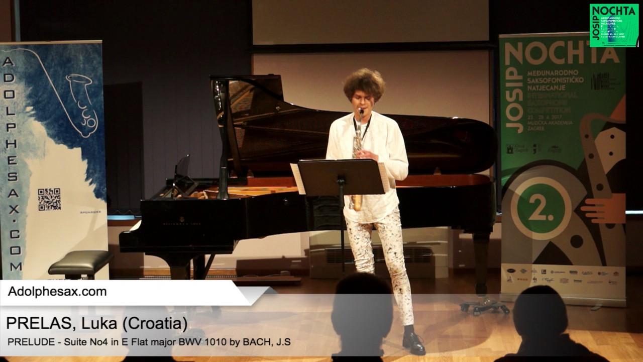 Johann Sebastian Bach – Suite No 4 in E  at major BWV 1010 – Pre?lude – PRELAS, Luka  (HR)
