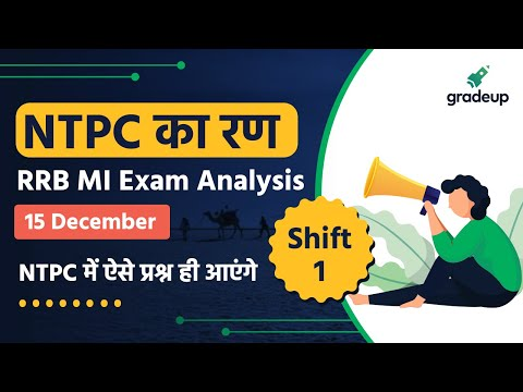 RRB MI Exam Analysis (15 Dec, Shift 1) | Ministerial & Isolated Categories 2020 | Gradeup
