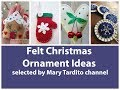 Felt Christmas Ornaments Ideas – Handmade Felt Christmas Decor Inspo - Winter Decorating Ideas