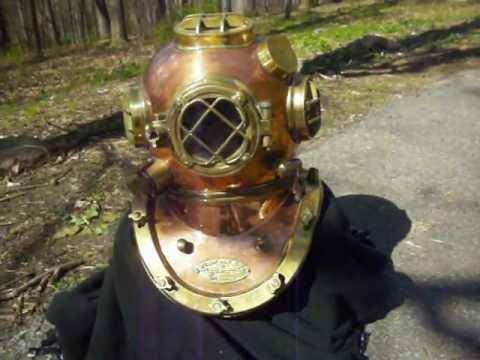 Full Size Morse Mark V U.S. Navy Replica Diving Helmet, All Copper & Brass FOR SALE!