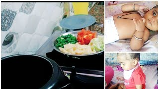 Indian baby Wednesday  lunch routine ( vegetables khichdi) |