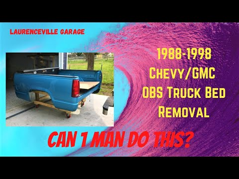1988 - 1998 Chevy Truck Bed Removal