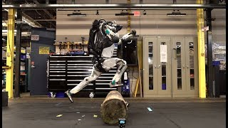 Parkour Atlas Robot. Incredible Jumping Skills.