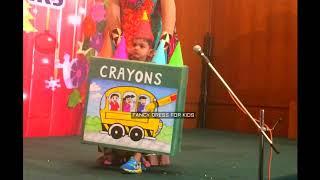 crayons color box fancy dress for kids speech