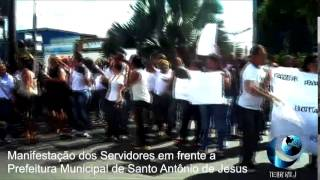 Manifestação dos Servidores Públicos em Santo Antônio de Jesus