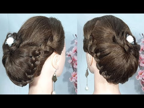 simple Bridal updo hairstyle for wedding & party || bridal hairstyle || updo hairstyle || hairstyle thumbnail