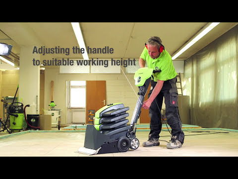 Professional Removing Of Flooring With WOLFF TURBO-Stripper (engl.)