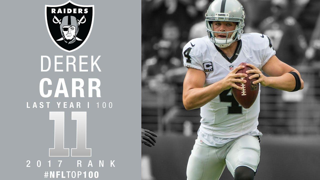 11 Derek Carr QB Raiders Top 100 Players of 2017