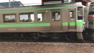 【JR北海道】通勤電車着発・通過シーン@朝里駅731系・733系・721系