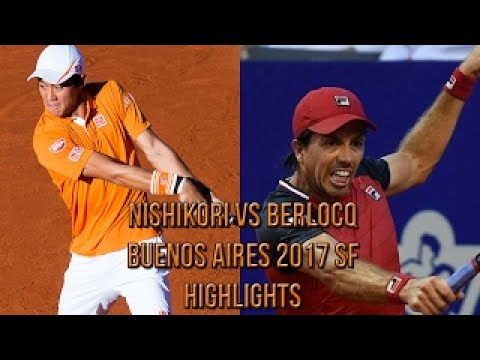 Kei Nishikori Vs Carlos Berlocq Buenos Aires 2017 SF (Highlights HD)