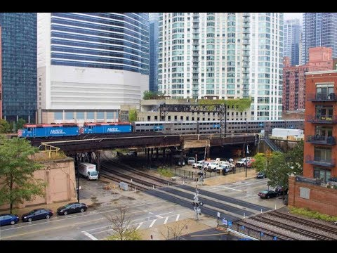 1080p HD: Railfanning Downtown Chicago & CSX Ex-B&O Mainlines in Northern Ohio
